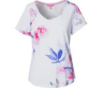 T-Shirt blau / pink / weiß