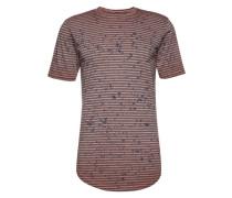 T-Shirt 'onsSPLASHY Longy O-Neck Exp' grau / rot