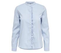 Langarmhemd Rüschen- blau