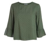 Rüschen-Bluse grün