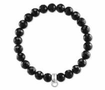 Charm-Armband 'Schwarz X0220-840-11-L' schwarz / silber