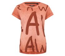 Shirt mit Aufdruck orangerot