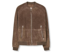 Blouson 'suede' taupe