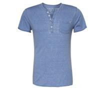T-Shirt 'T Mike button' blau