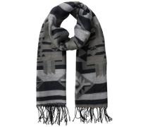 Mit Aztekendruck versehener Langer Schal schwarz