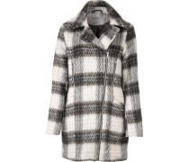 Mantel dunkelbraun / wollweiß
