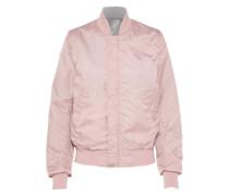 Reversible Bomberjacke rosa / silber