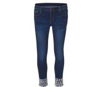 Jeans mit Glitzerstein- Applikationen dunkelblau
