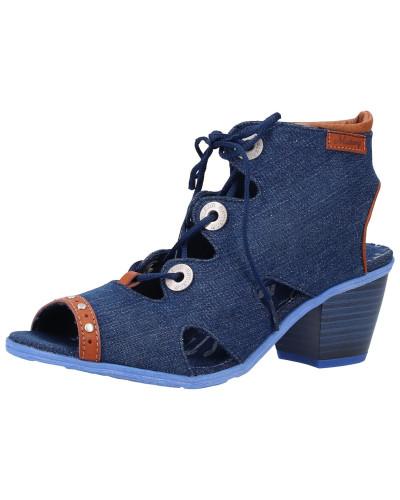 Sandalen blue denim / cognac