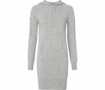 Strickkleid 'luxe Knitted Hoody Dress' graumeliert