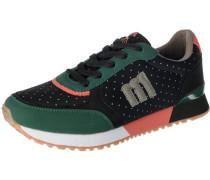 'Gansa' Sneakers grün / apricot / schwarz