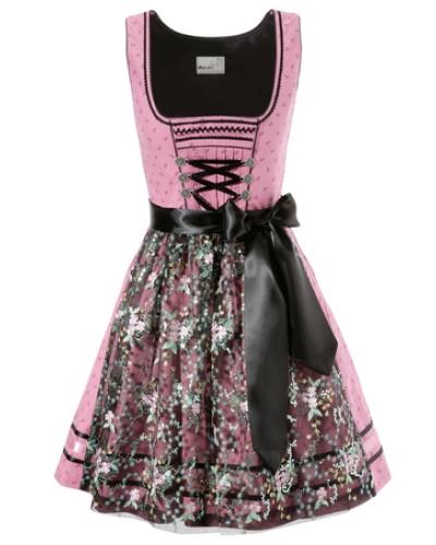 marjo damen marjo dirndl kurz mit spitzensch rze pink. Black Bedroom Furniture Sets. Home Design Ideas