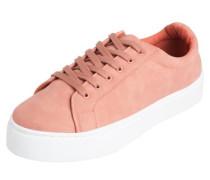 Weißer Sneaker altrosa