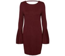Glockenärmel-Kleid rotviolett