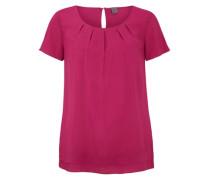 Luftige Bluse mit Abnähern pink