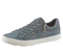 Metallic Sneaker mit Zipper blue denim / silber / weiß