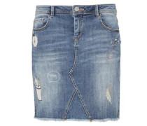 Jeansrock mit Stitchings hellblau