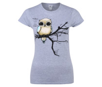 T-Shirt 'Fly Right' grau