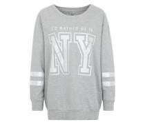 Sweater mit Print grau
