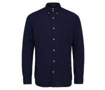 Slim Fit - Langarmhemd blau