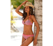 Push-up-Bikini grau / pink