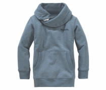 Sweatshirt mit Schalkragen blau