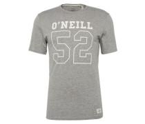 T-Shirt 'LM 52' graumeliert / weiß