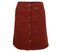 Cordrock mit Taschen rot