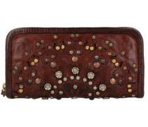 Portafoglio Geldbörse Leder 20 cm rot