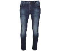 Tapered Fit Jeans dunkelblau