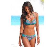 Push-up Bikini blau
