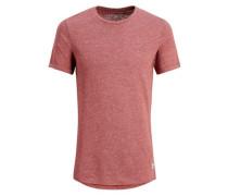 Extra Langes T-Shirt weinrot