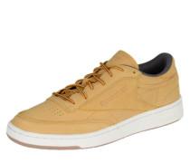 Sneakers aus Leder ocker