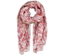 Schal rosa / hellrot / weiß