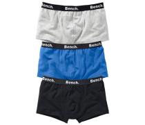 Boxer (3 Stück) blau / graumeliert / schwarz