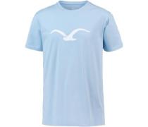'Mowe' T-Shirt hellblau / weiß