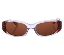 Sonnenbrille braun / rot / transparent