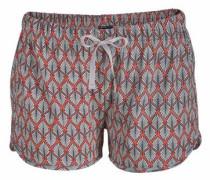 Shorts in lässiger Weite blau / rot / weiß