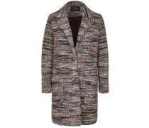 Mantel mit Melange-Muster creme / basaltgrau / dunkelorange