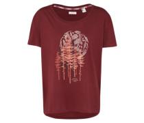 T-Shirt 'LW Peaceful Pines' karminrot