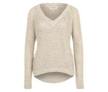 Lochstrickpullover 'Fancy Yarn' beige