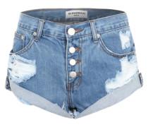 Jeanshorts im Used-Look blau