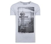 Do-Ver T-Shirt mit Print Artwork grau