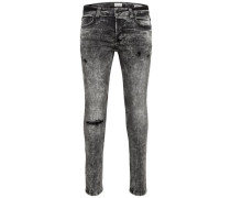 Skinny Fit Jeans' Warp Camp 24 Washed Black' dunkelgrau / schwarz