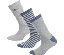 3 Paar Socken taubenblau / grau