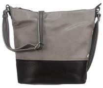 'Carly' Handtasche grau / schwarz