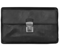 Story Uomo Herrentasche Leder 23 cm schwarz
