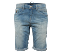 Jeansshort 'lance' blue denim