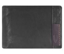 Glasgow Geldbörse Leder 13 cm schwarz