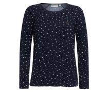 Sweatshirt 'Yapma Ya' ultramarinblau / weiß